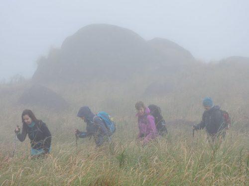 Montanhismo e chuva surpresa
